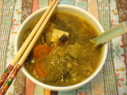Curry Vegetable Soup with Tofu